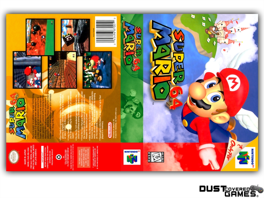 Details about Super Mario 64 N64 Nintendo 64 Game Case Box Cover Brand New  Pro Quality!!!