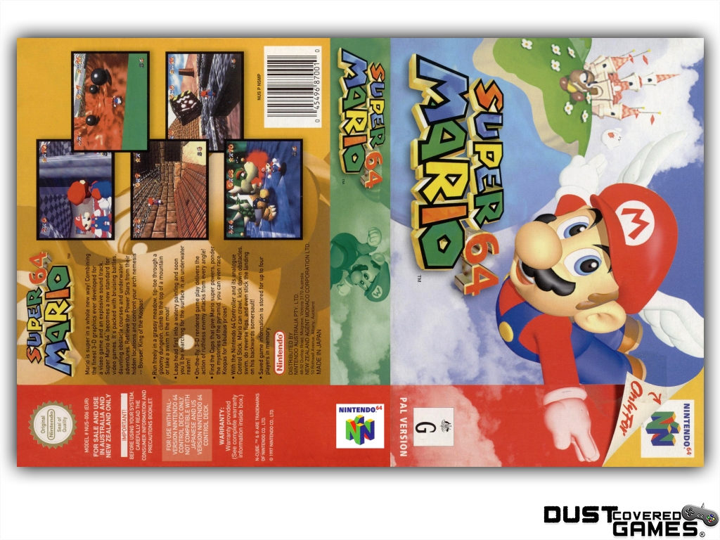 thumbnail 25 - Super-Mario-64-N64-Nintendo-64-Game-Case-Box-Cover-Brand-New-Pro-Quality