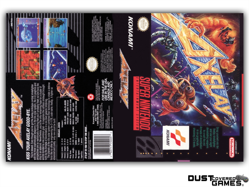 Axelay Snes Super Nintendo Game Case Box Cover Brand New Professional Quality Ebay