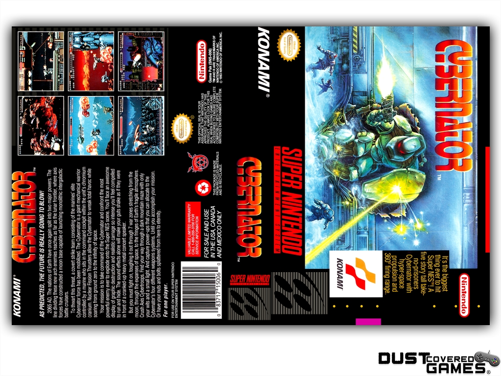 thumbnail 5 - Cybernator-SNES-Super-Nintendo-Game-Case-Box-Cover-Brand-New-Pro-Quality