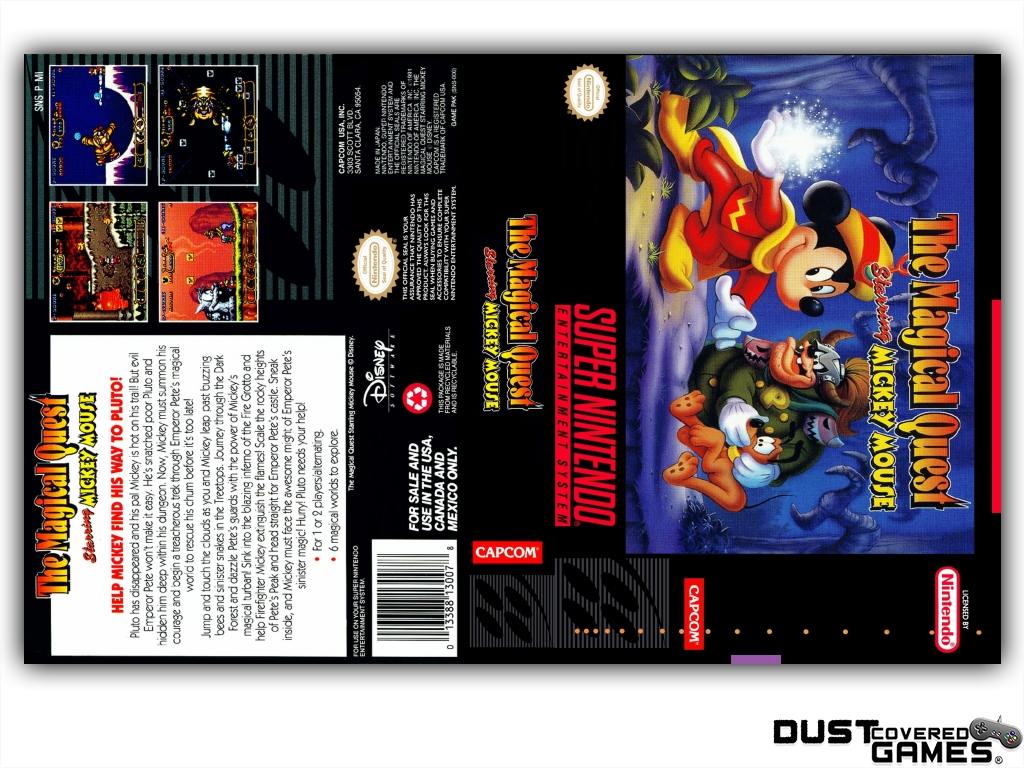 The Magical Quest Starring Mickey Mouse Snes Super Nintendo Game Terminator X3