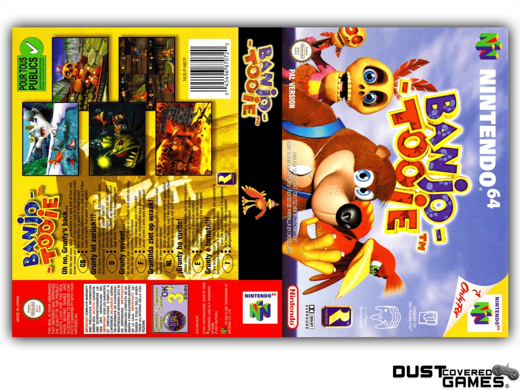 Banjo-Tooie-N64-Nintendo-64-Game-Case-Box-Cover-Brand-New-Professional-Quality miniatuur 21