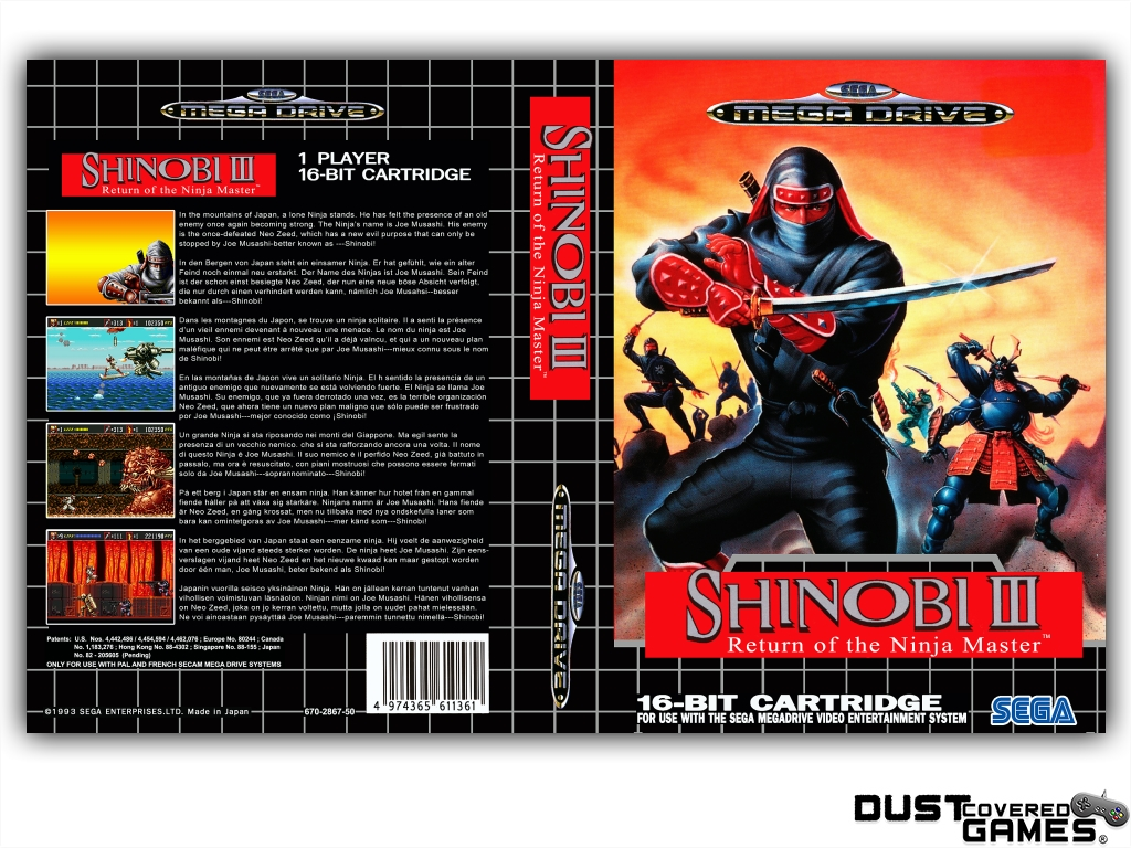 Shinobi-III-Return-of-the-Ninja-Master-GEN-Genesis-Game-Case-Box-Cover-New-Pro thumbnail 9