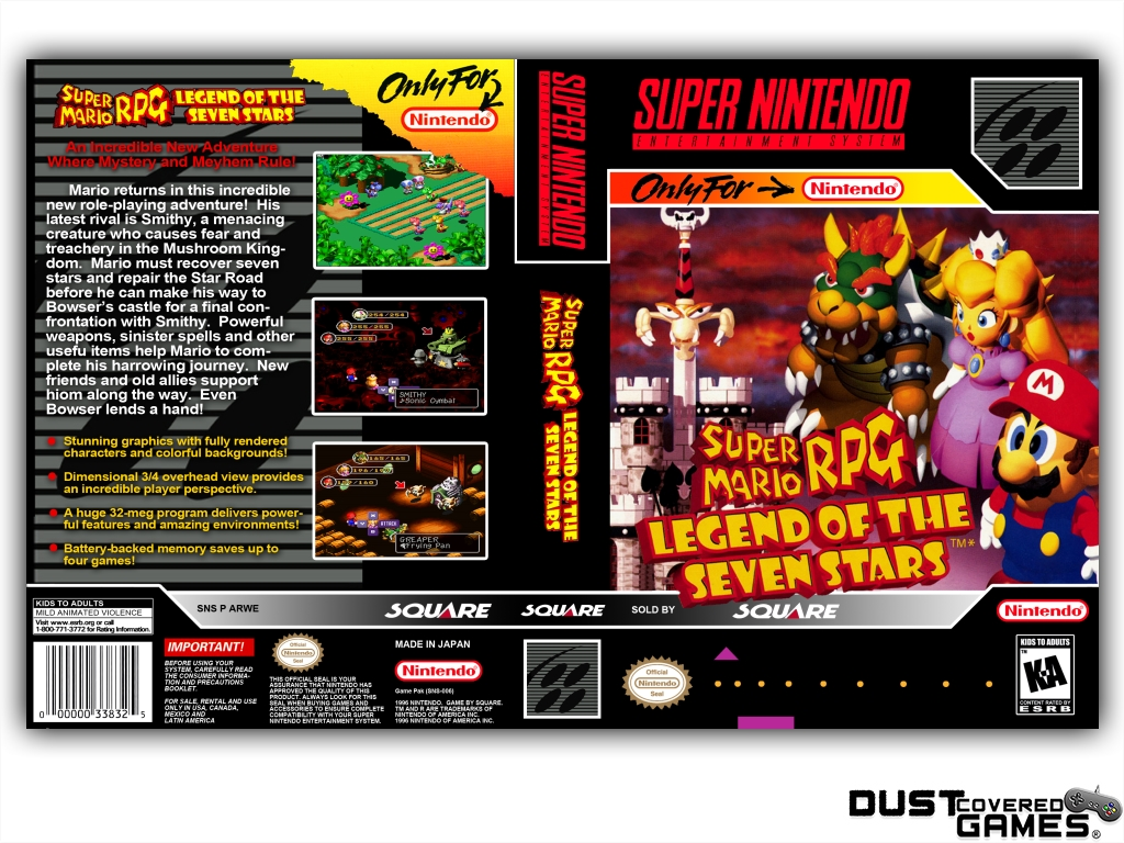 Details about Super Mario RPG: The Legend of the Seven Stars SNES Super  Nintendo Game Case Box