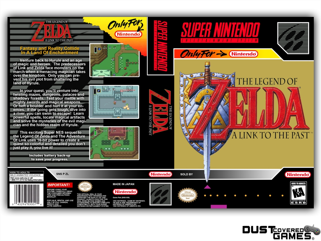 Details about The Legend of Zelda: A Link to the Past SNES Super Nintendo  Game Case Box Cover!