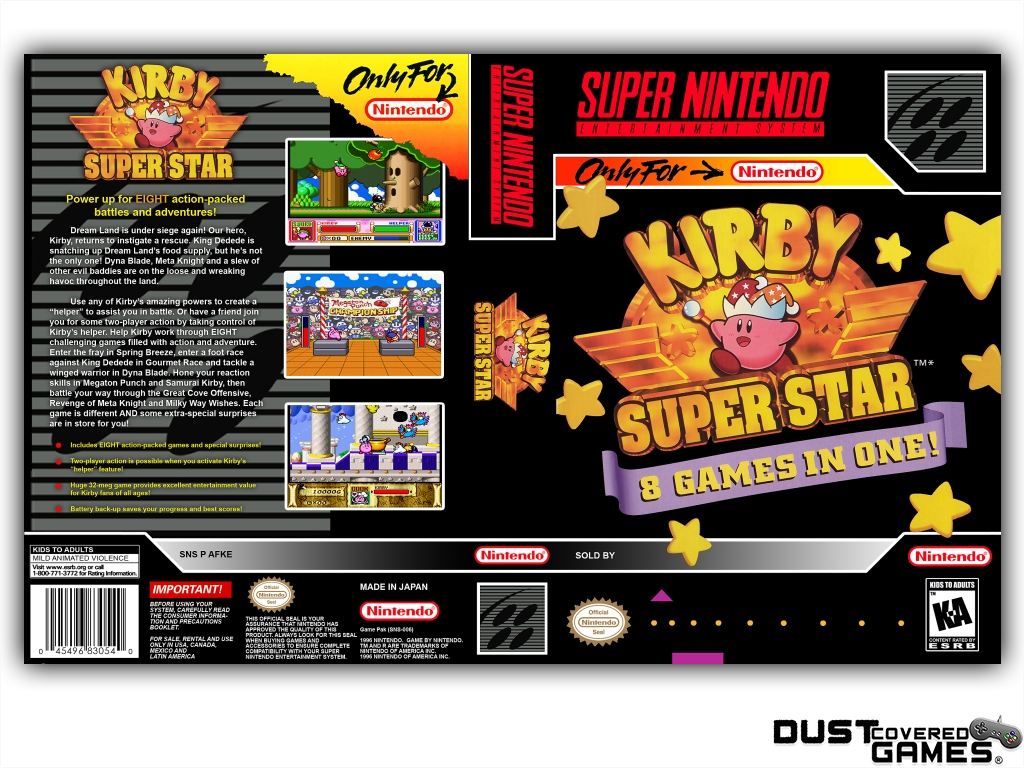 Kirby Super Star Ultra Nintendo DS Box Art Cover by RunawayRed |Kirby Super Star Box