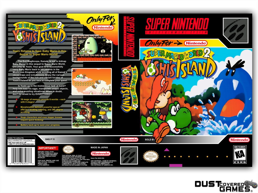 Details about Super Mario World 2: Yoshi's Island SNES Super Nintendo Game  Case Box Cover New!