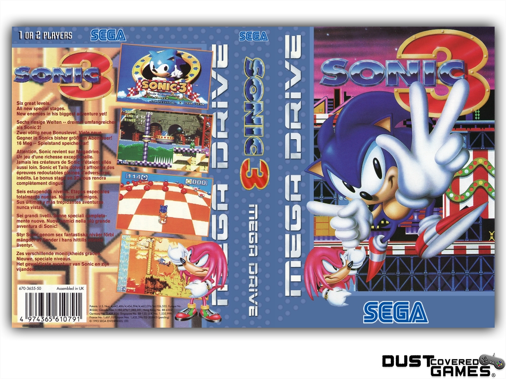 Sonic The Hedgehog 3 Gen Genesis Game Case Box Cover Brand New Pro Quality Ebay