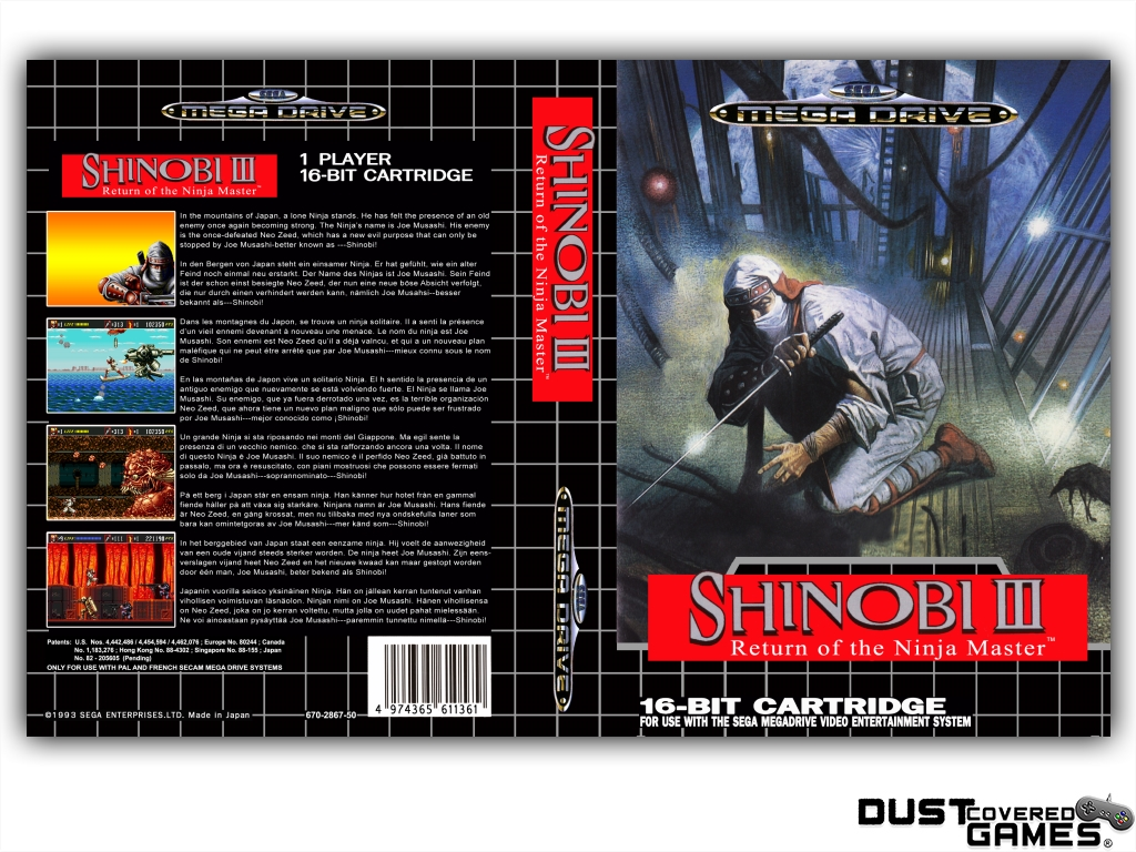 Shinobi-III-Return-of-the-Ninja-Master-GEN-Genesis-Game-Case-Box-Cover-New-Pro thumbnail 17