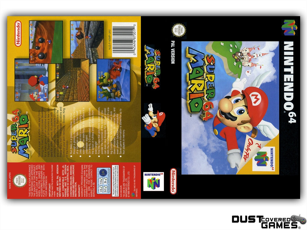 thumbnail 13 - Super-Mario-64-N64-Nintendo-64-Game-Case-Box-Cover-Brand-New-Pro-Quality