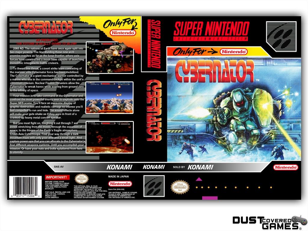 thumbnail 13 - Cybernator-SNES-Super-Nintendo-Game-Case-Box-Cover-Brand-New-Pro-Quality
