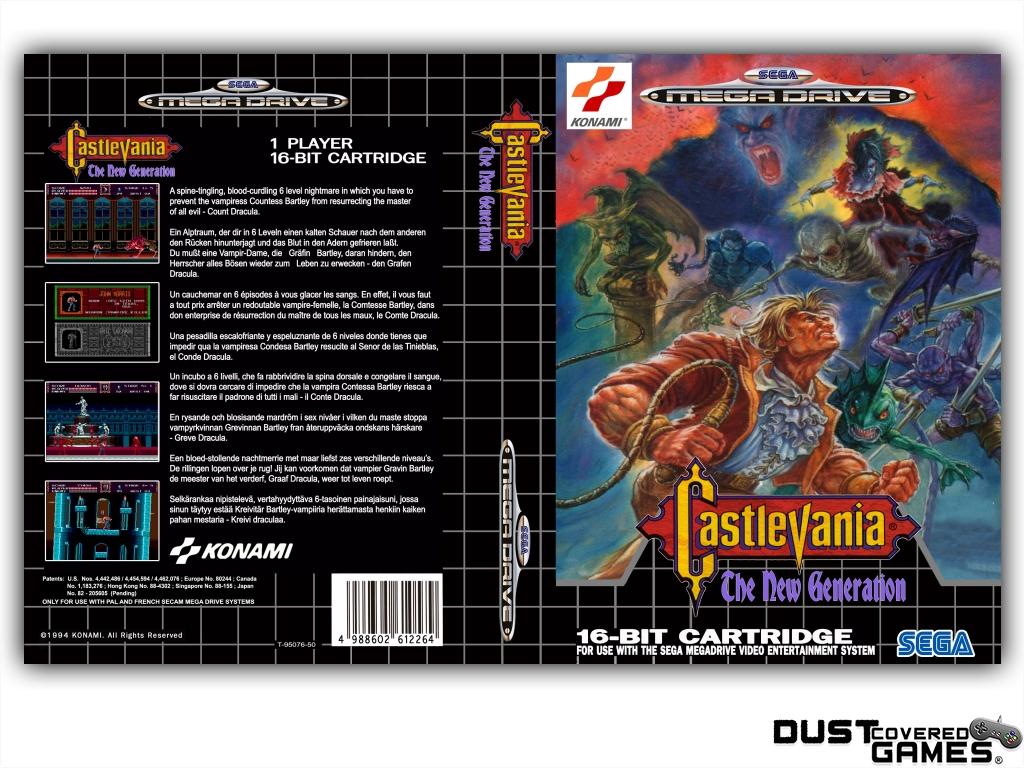 Castlevania-Bloodlines-Castlevania-The-New-Generation-GEN-Genesis-Game-Case thumbnail 25