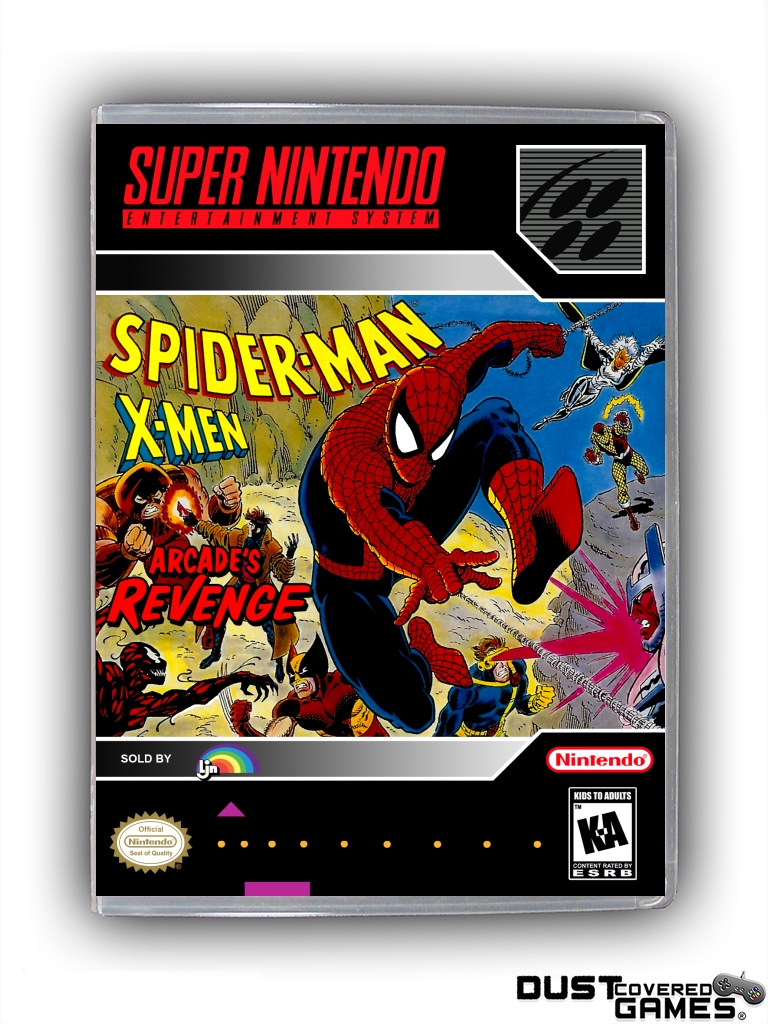 spiderman x men arcade s revenge snes super nintendo game case box