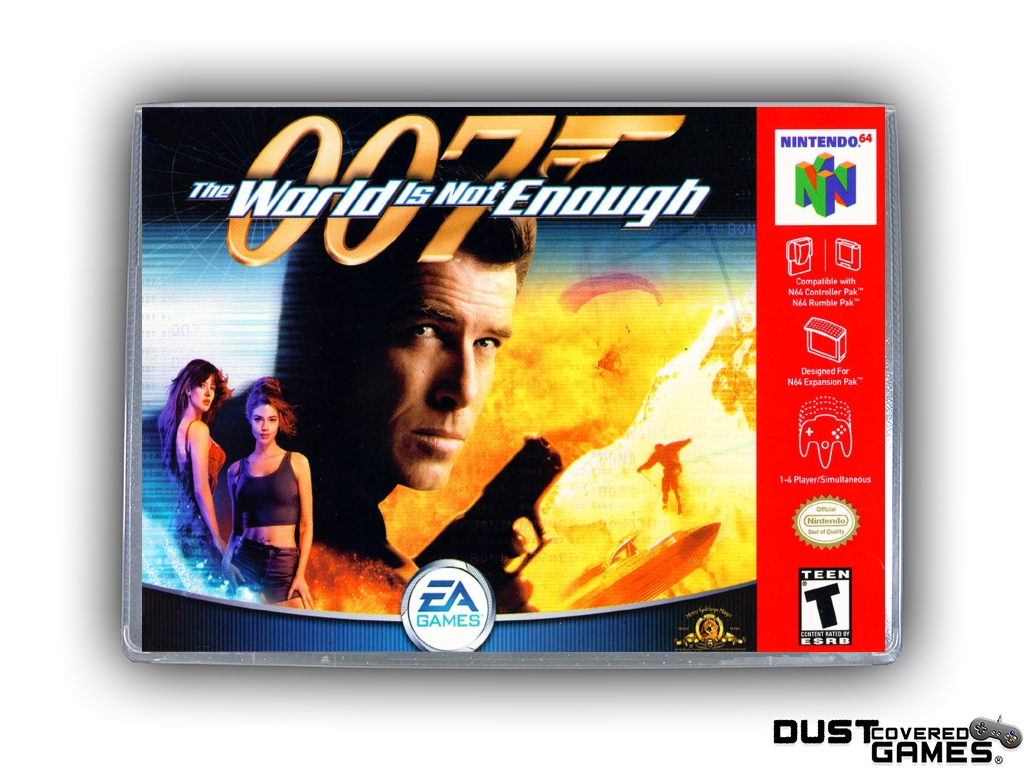007 The World Is Not Enough N64 Nintendo 64 Game Case Box Cover