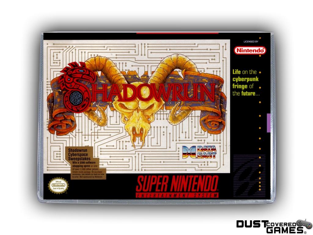 Shadowrun Snes Super Nintendo Game Case Box Cover Brand New Professional Quality Ebay