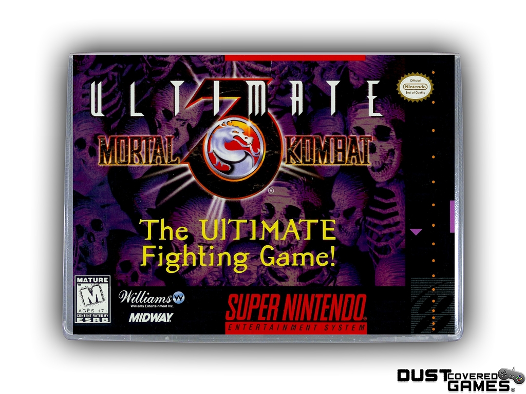 Ultimate Mortal Kombat 3 Snes Super Nintendo Game Case Box Cover