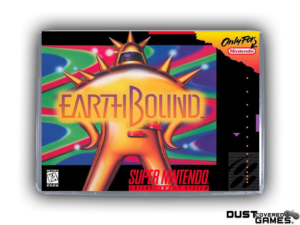 Earthbound Snes Super Nintendo Game Case Box Cover Brand New Pro Quality Ebay