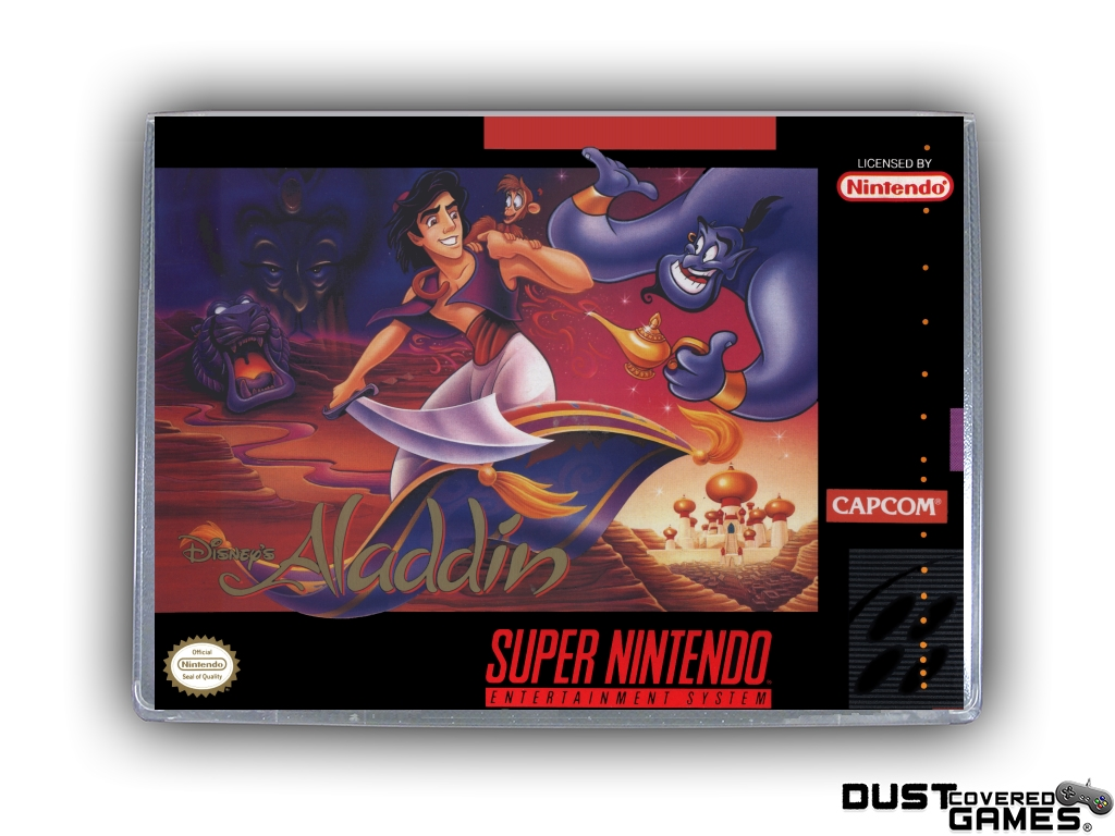 Aladdin Snes Super Nintendo Game Case Box Cover Brand New Professional Quality Ebay