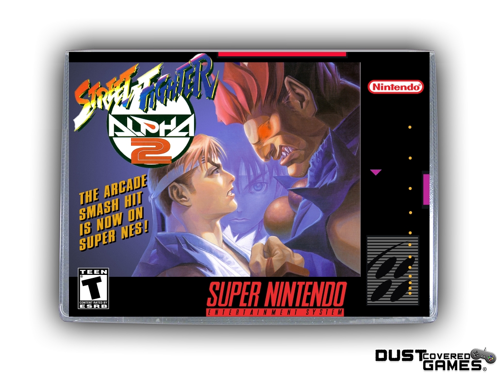 Street Fighter Alpha 2 Snes Super Nintendo Game Case Box Cover