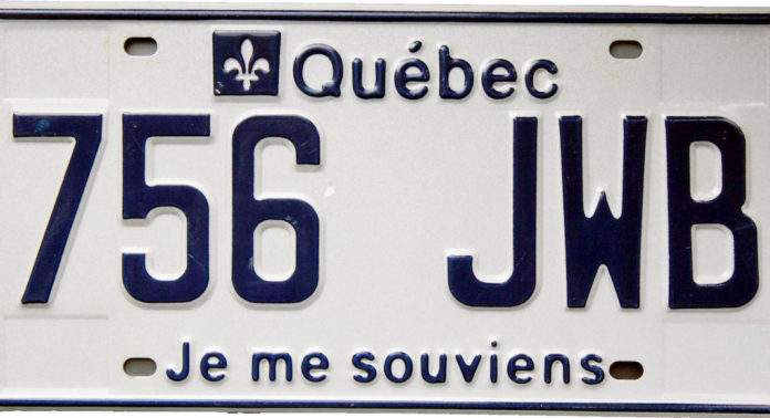 08d517d9559b Why do Quebec license plates say
