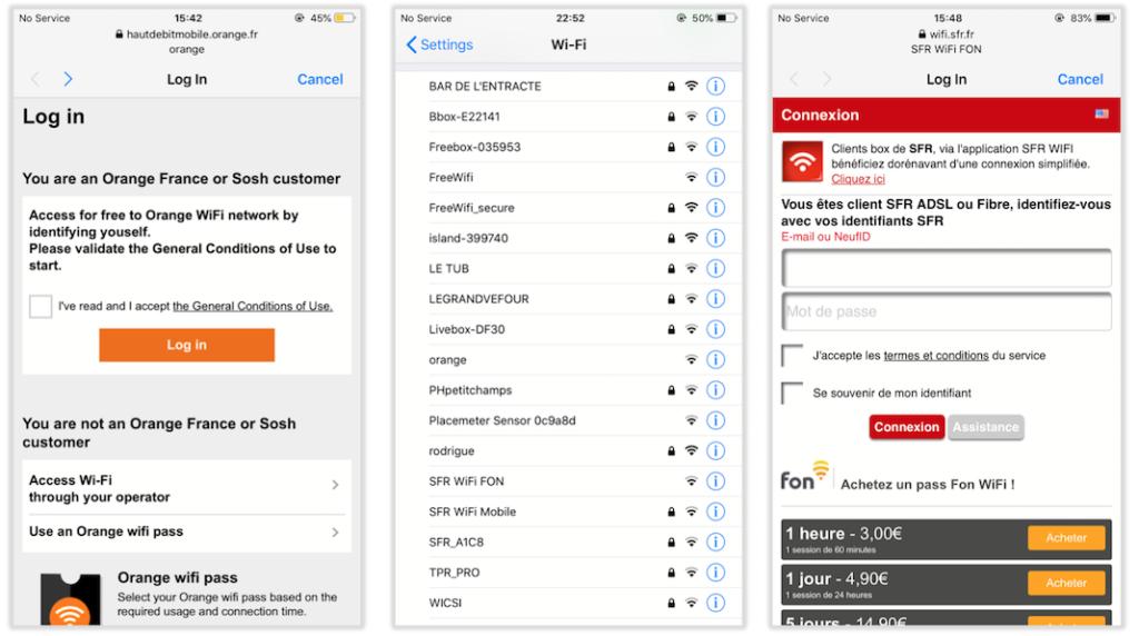 free wifi secure mot de passe erron?