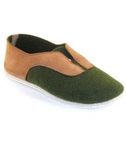 Slipper Bandiat Green by Manufacture Degorce