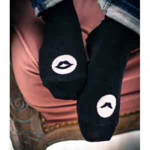 Socks Mr & Ms for her noir