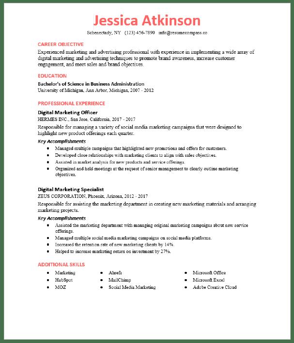 Advertising Account Executive Resume Sample Resumecompass