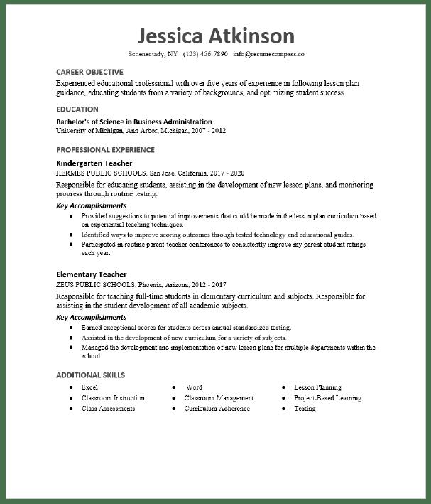 English Teacher Resume Sample Resumecompass