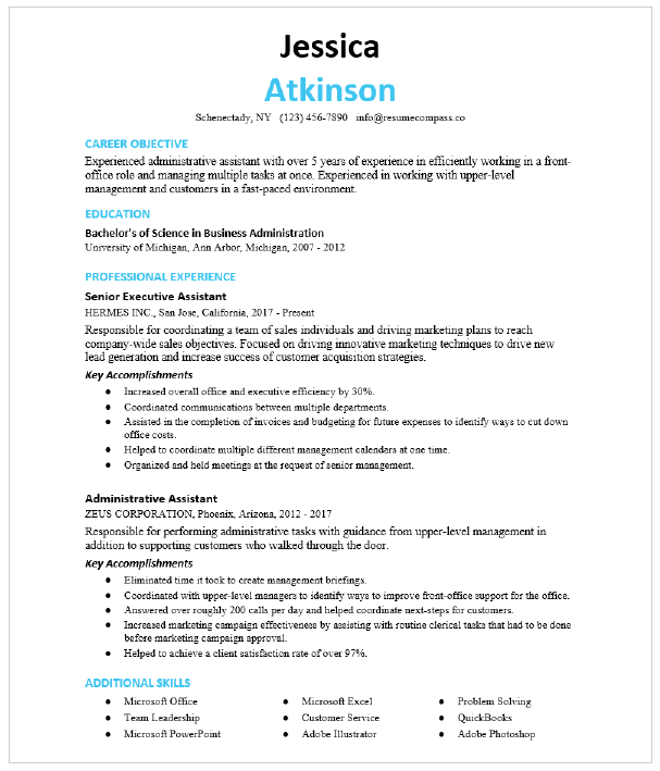 Front Desk Representative Resume Sample Resumecompass