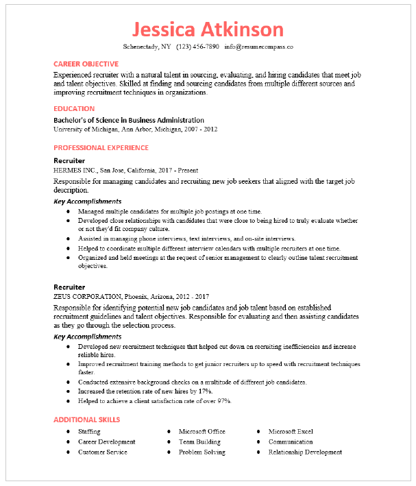 Resume Template For Internal Position from storage.googleapis.com
