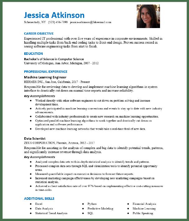 Machine Learning Engineer Resume Sample Resumecompass