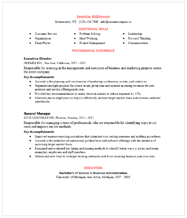 Operations Manager Resume Sample Resumecompass