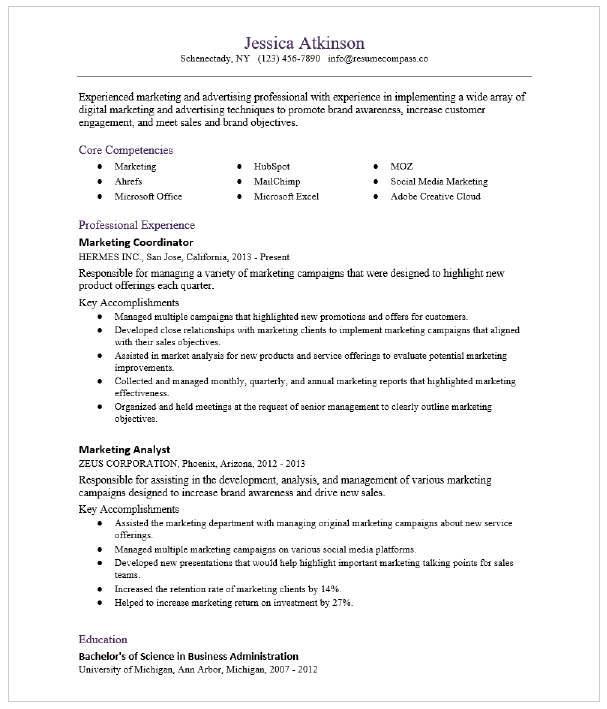 Product Marketing Manager Resume Sample Resumecompass