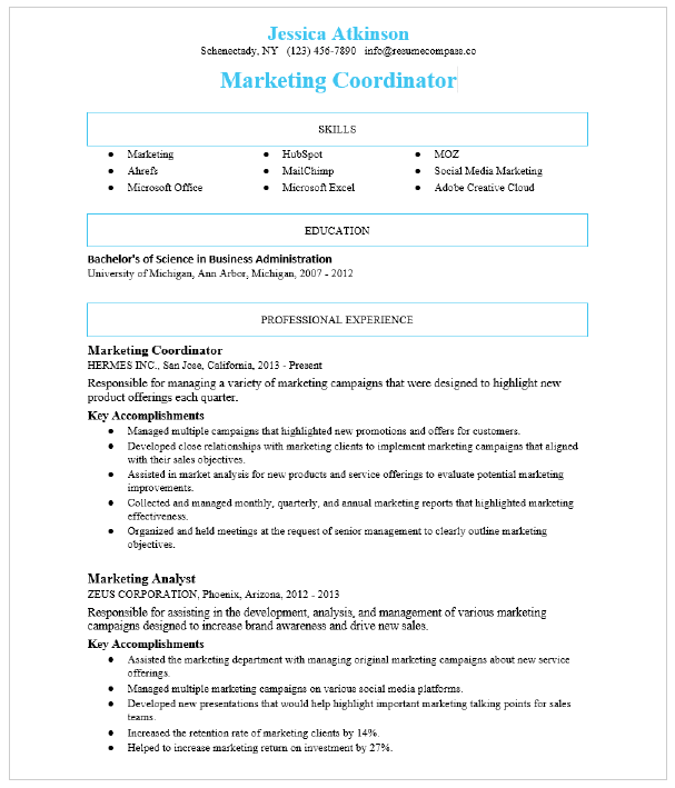 Social Media Manager Resume Sample Resumecompass