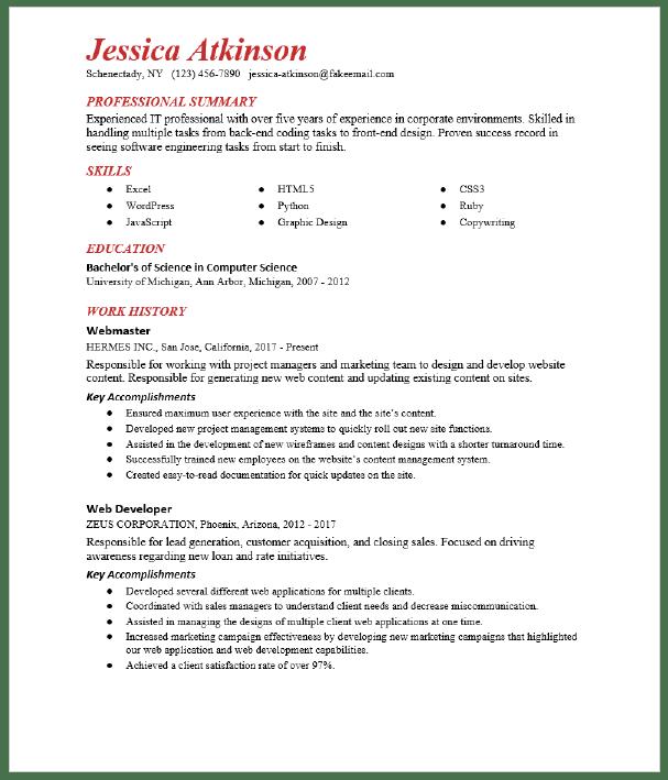Website Editor Resume Sample Resumecompass