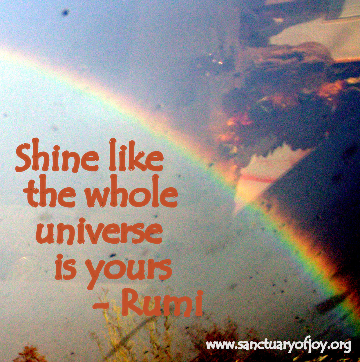 Shine like the whole Universe is yours.