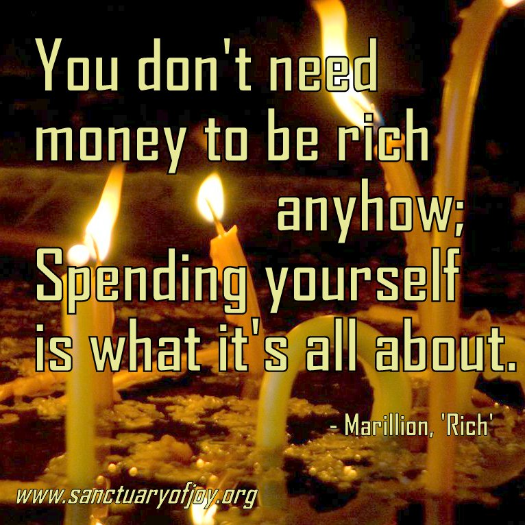 You don't need money to be rich