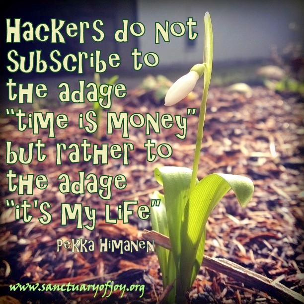 "Hackers do not subscribe to the adage ""time is money"" but rather to the adage ""it's my life"""