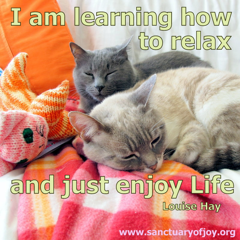 I am learning how to relax