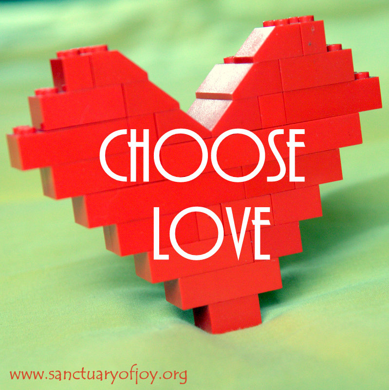 Choose Love Lego Heart
