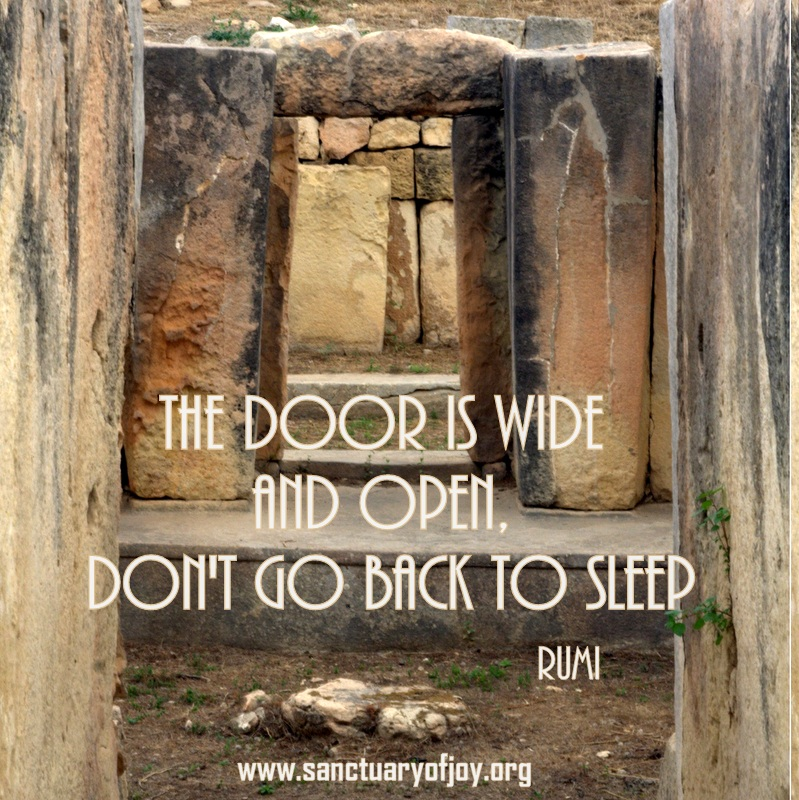 The door is wide and open - Tarxien temple Malta