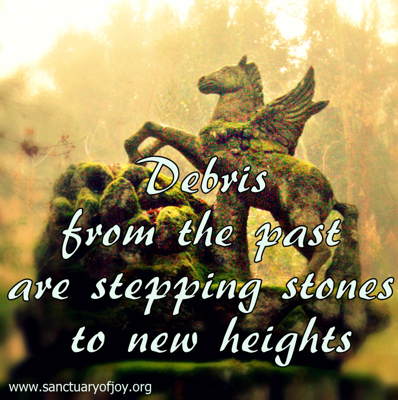 Debris from the past are stepping stones to new heights