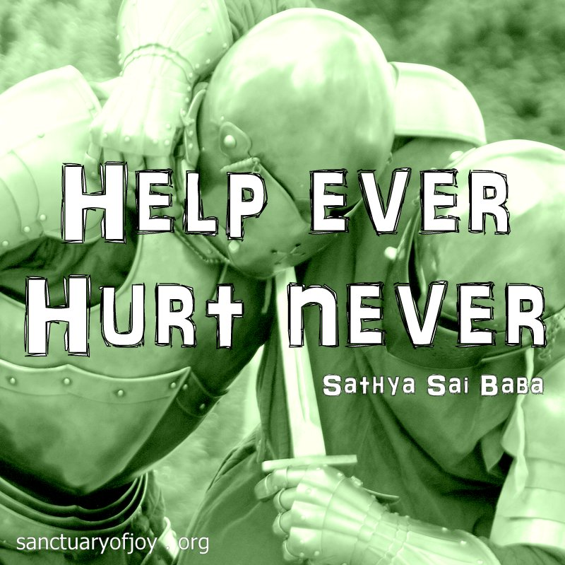 Help ever hurt never