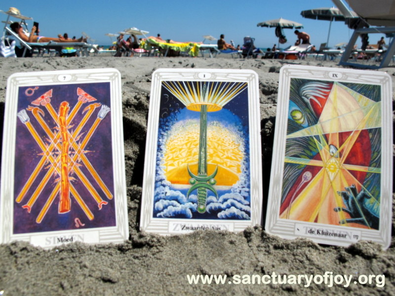 Crowley Tarot on the beach - August 2016