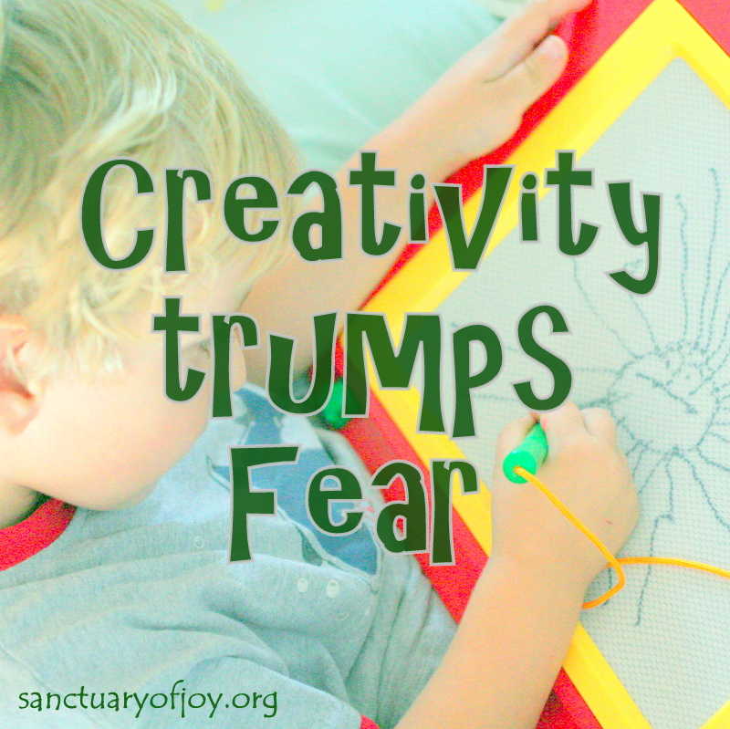 Creativity trumps fear