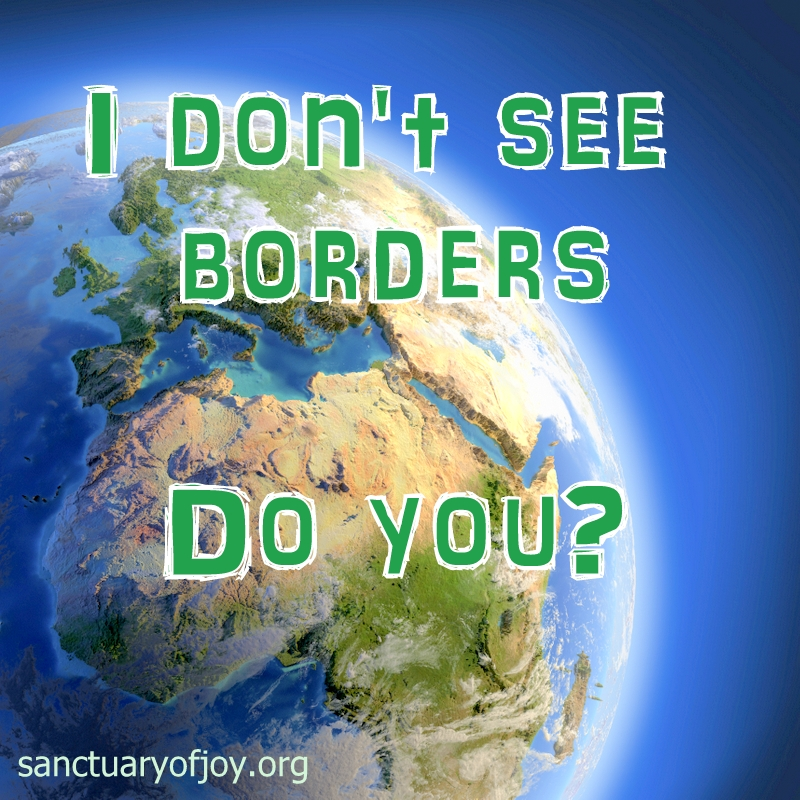 I don't see borders, do you?