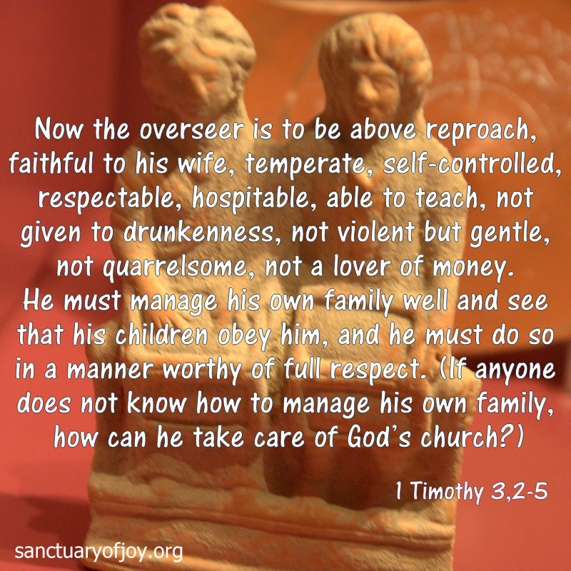 Overseer's role Timothy 3,2-5