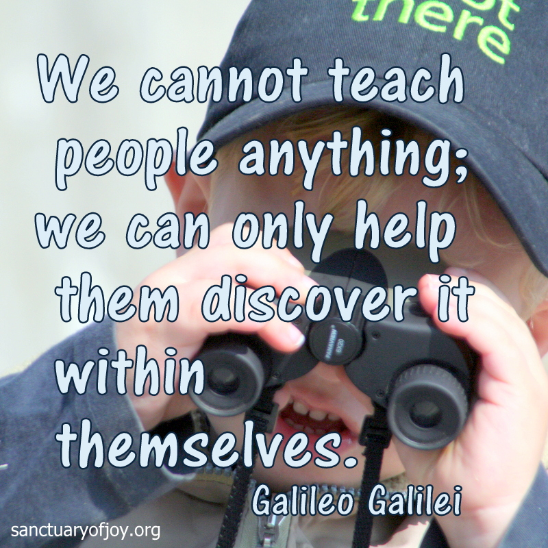 We cannot teach people anything; we can only help them discover it within themselves.
