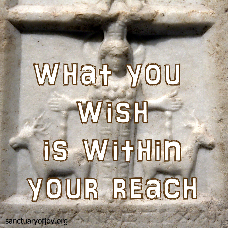 What you wish is within your reach